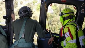 Turista tratto in salvo allo Zingaro da un elicottero del SAR