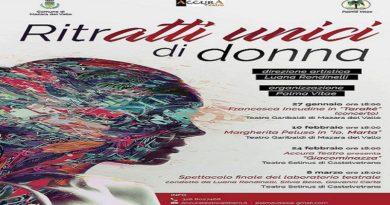 """Mazara e Castelvetrano. """"RitrAtti Unici di donna"""", dal 27 gennaio la rassegna curata dall'attrice e regista Luana Rondinelli"""