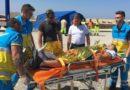 Mazara. Ammaraggio di emergenza in mare. Esercitazione della guardia costiera nelle acque antistanti il porto