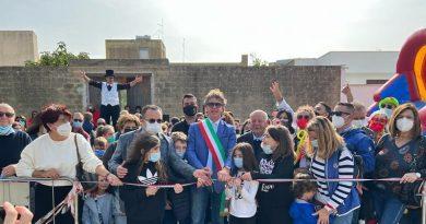 """Grande entusiasmo dei bambini di Campobello di Mazara all'inaugurazione del """"Parco della Libertà"""""""